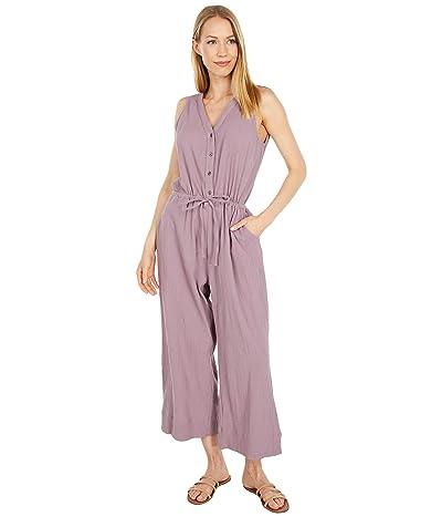 PACT Organic Cotton Crinkle Button Front Jumpsuit