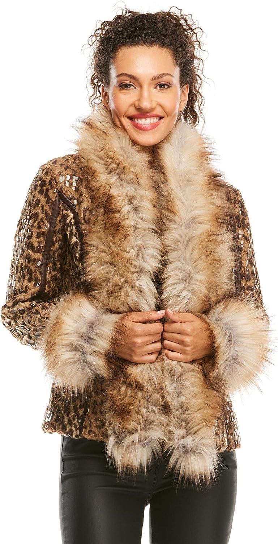 1 year warranty Trust Leopard Premier Faux Jacket Fur