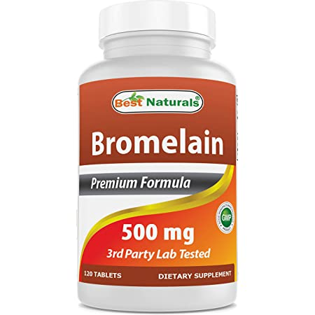 Best Naturals Bromelain Proteolytic Digestive Enzymes Supplements, 500 mg, 120 Tablets - Supports Healthy Digestion, Joint Health, Nutrient Absorption