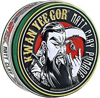 KWAN YEE GOR Strong Hold Matte Shine Hair Pomade 3.5oz for Men,Styling Finish Cream,Paste Wax for Firm Edge Control,Origin...
