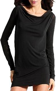 SENSI' Vestito Donna Collo Barchetta Abito Manica Lunga Lana Cachemire Traspirante Senza Cuciture Seamless Made in Italy