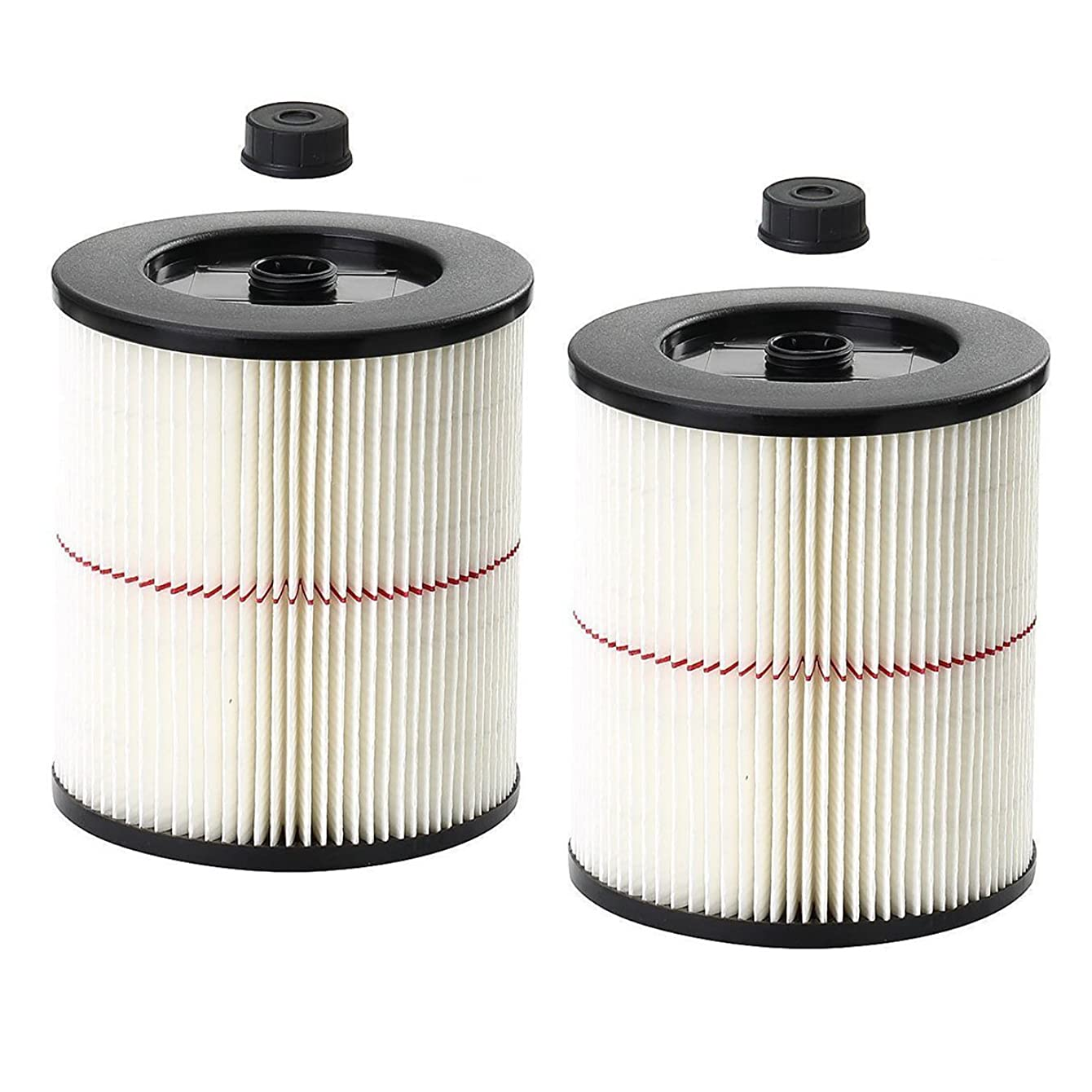 ANBOO Replacement Cartridge Filter for Shop Vac Craftsman 9-17816 Filter for Craftsman 17816 Vacuum Filter General Purpose Wet Dry Air Filter for 5 & Larger Gallon Vacuum Cleaner 2 Packs