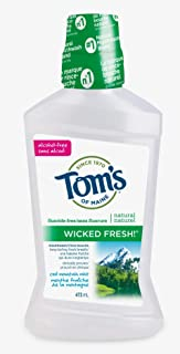 Tom's of Maine Wicked Fresh Cool Mountain Mint Natural Fluoride Free Mouthwash, 473 ml (Pack of 1)
