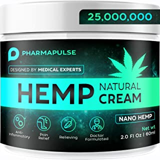 PHARMAPULSE Pain Relief Hemp Cream - Relieves Arthritis Pain, Muscle and Joint Pain, Lower Back and Knees Pain - Anti Infl...