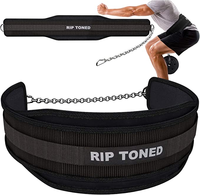 Rip Toned Dip Belt with Chain