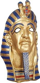 Loftus International Star Power Egyptian Mummy Pharaoh Latex Mask Gold Blue Red One Size Novelty Item