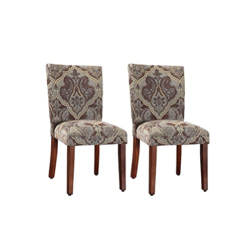 Miraculous Set Of Two Brown Accent Chairs Amazon Com Andrewgaddart Wooden Chair Designs For Living Room Andrewgaddartcom