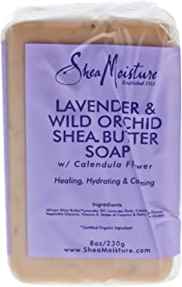 Shea Moisture Lavender and Wild Orchid Shea Butter Soap, 230 g