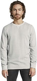 Tom Tailor Men's Overdyed Regular Round Collar Long Sleeve Sweatshirt