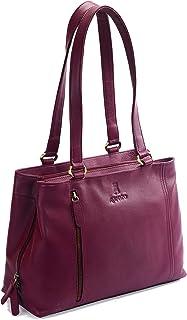 Rolando Maya Original Indian Brand Premium Handcrafted Stylish Designer Ladies Real Leather Fixed Top-Handle Bag