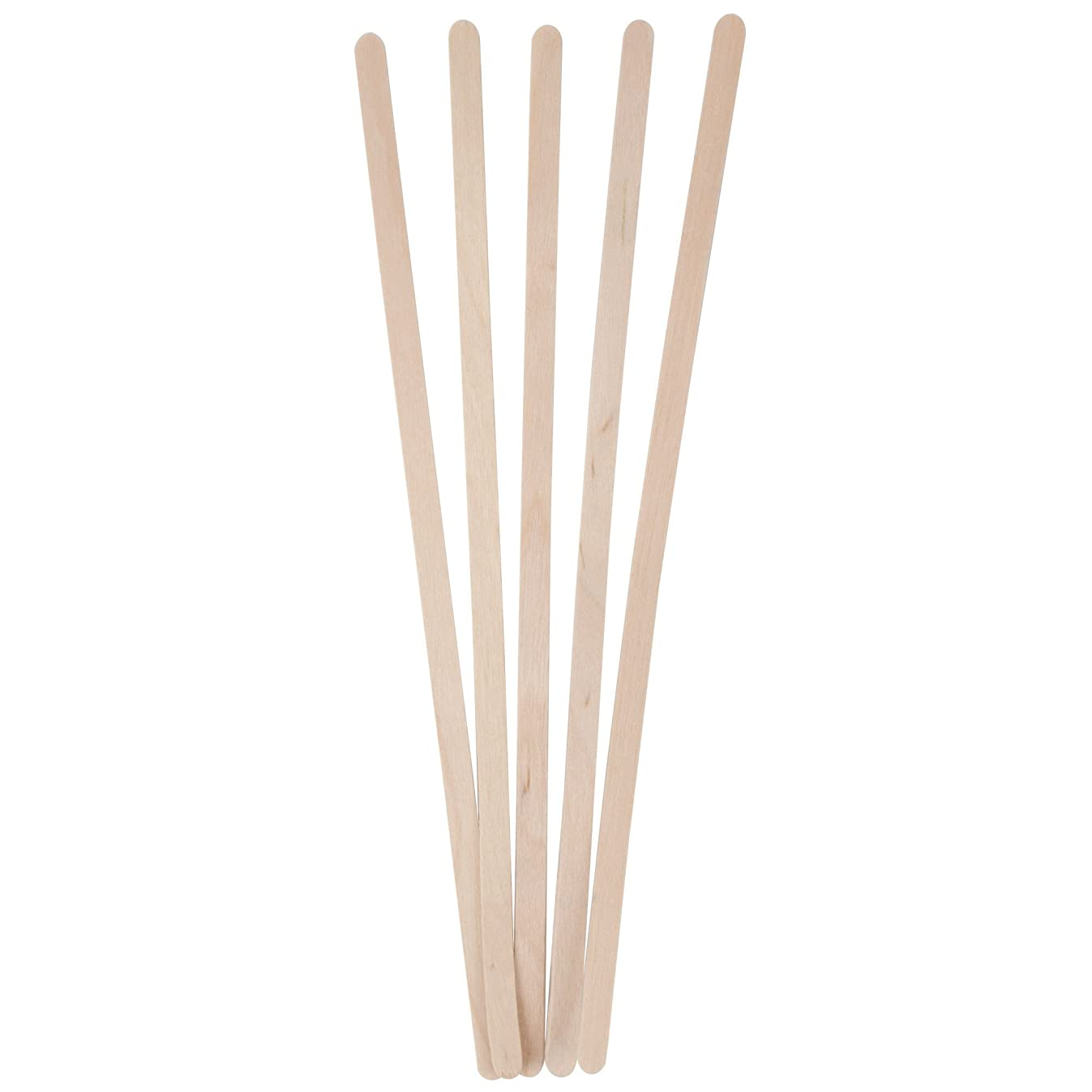 Birch Wood Coffee Stirrers, 1000 Count, Round Ends, 7