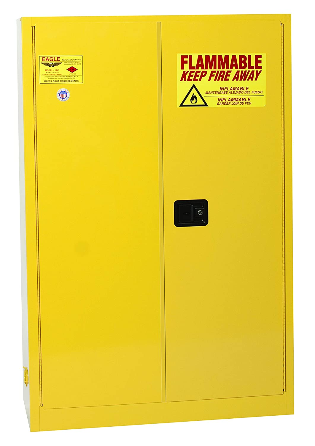 Eagle 1947 Max 79% OFF Safety Cabinet for Max 44% OFF Flammable Manual Liquids 2 C Door