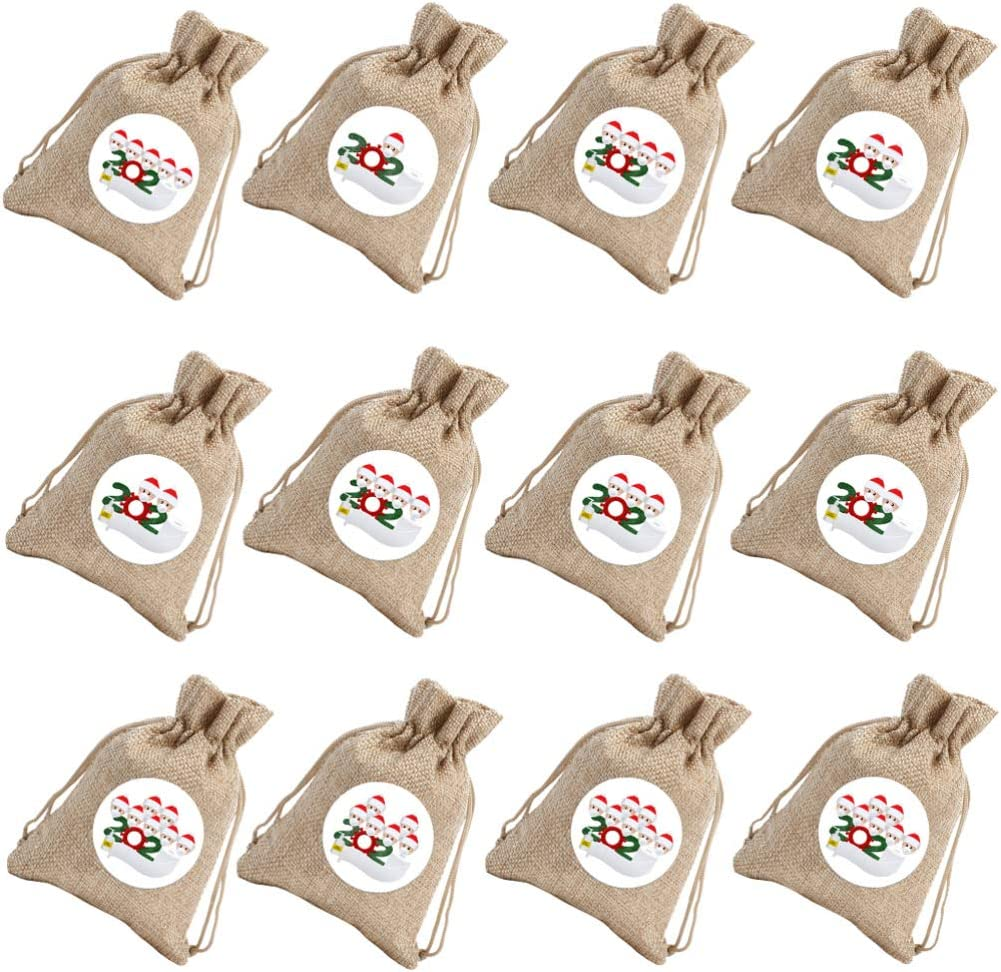 VALICLUD Free shipping 12pcs Christmas Candy Bag Draws Max 64% OFF Bags Sack