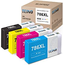 TEINO Remanufactured Ink Cartridges Replacement for Epson 786 786XL 786 XL use with Epson Workforce Pro WF-4630 WF-5690 WF-5620 WF-5110 WF-5190 WF-4640 (Black, Cyan, Magenta, Yellow, 4-Pack)