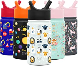 Simple Modern 14oz Summit Kids Water Bottle Thermos with Straw Lid - Dishwasher Safe Vacuum Insulated Double Wall Tumbler ...