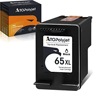 ATOPolyjet Remanufactured 65XL Ink Cartridge 1 Pack Replacement for HP 65XL 65 XL Ink Work with HP Envy 5055 5052 5010 Des...