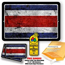 Costa Rica Country Flag Man Cave Metal Decor Tin Sign Indoor and Outdoor use 8