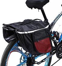 Estink Alforjas Bicicleta Trasera, Alforjas Bicicleta Sillín Bolsa Impermeable de Tija Asiento Trasera Plegable Maletero de Bicicleta con Tira Reflectante para Bici Montaña Cycling Ciclismo Viaje 25L