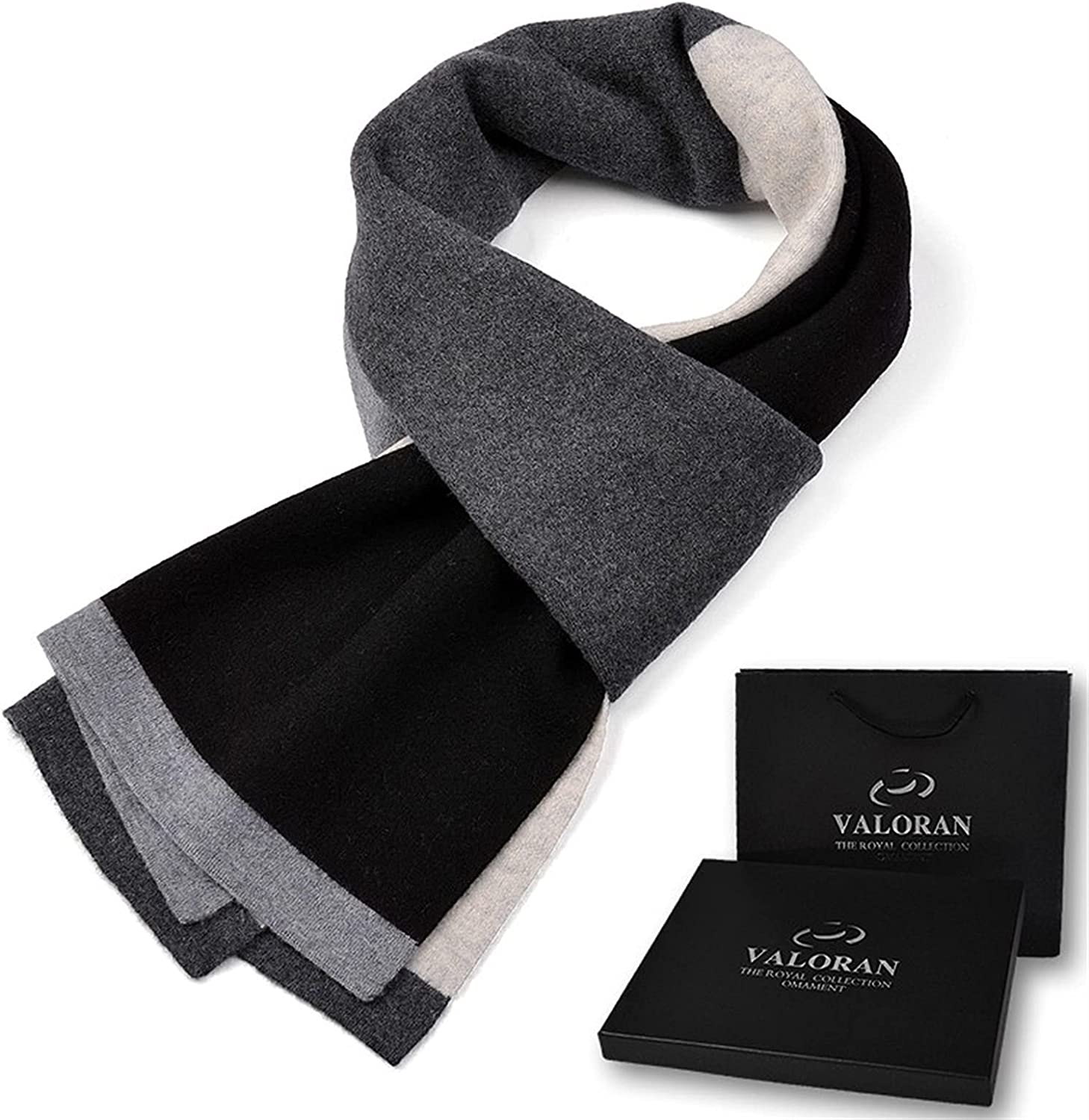 Long Black Trend Scarf British Classic Couple Models Joker Simple Ladies Collar High-end Business Male Winter Plaid Wool 100% Versatile Birthday Gift Thick Warm Matching Box Men Women Scarves