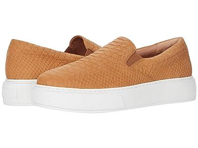 J/Slides Delia (Tan Embossed Leather) Women