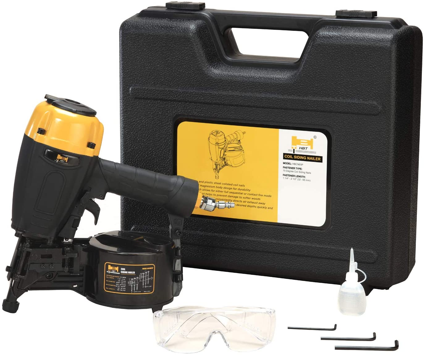 HBT HBCN65P 15 Degree 2-1/2-Inch Coil Siding Nailer with Magnesium Housing - -