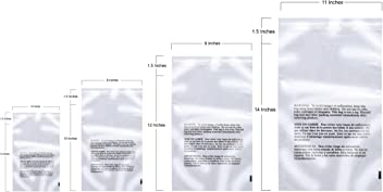 7 x 10 3 mil Pack of 100 RetailSource P071003SR100 Slide-Seal Reclosable Poly Bags Clear