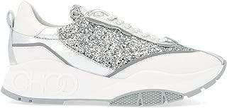 JIMMY CHOO Luxury Fashion Womens RAINECGCSILVERMIX Silver Sneakers | Fall Winter 19