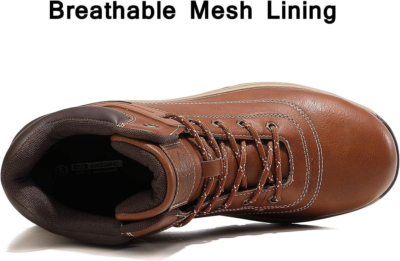 semelle antidérapante et Randonnée Hiver Chaussures à Lacets Marche Bottes Travail Taille Homme Nouveau