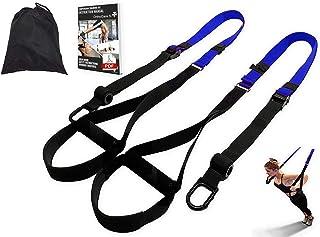 Ortho Care S Fitness - Entrenamiento en Suspension/Funcional con Cuerdas. Kit Multifuncion Gimnasia - Fortalecimiento, Resistencia y Tonificacion Muscular. con Anclaje para Puerta.