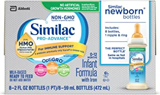 Similac Pro-Advance Infant Formula with 2'-FL Human Milk Oligosaccharide (HMO) for Immune Support, Ready to Feed, 2 fl oz (48 count)