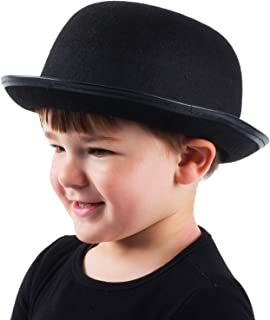 Kids Derby Hat - Bowler Hat for Kids - Black Bowler Hat - Felt Bowler Hat - Children's Costume Hats
