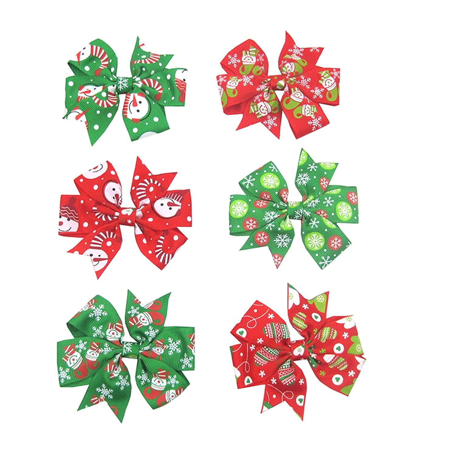 Bow Hair Clips Glitter Cheer Red Rapid rise For Silver Baby Girls Teen Low price