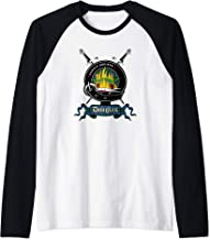 Mens Douglas Clan Badge & Swords Raglan Baseball Tee