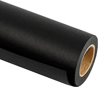 RUSPEPA Black Kraft Paper Roll - 18 inch x 100 Feet - Recycled Paper Perfect for for Crafts, Art, Gift Wrapping, Packing, Postal, Shipping, Dunnage & Parcel