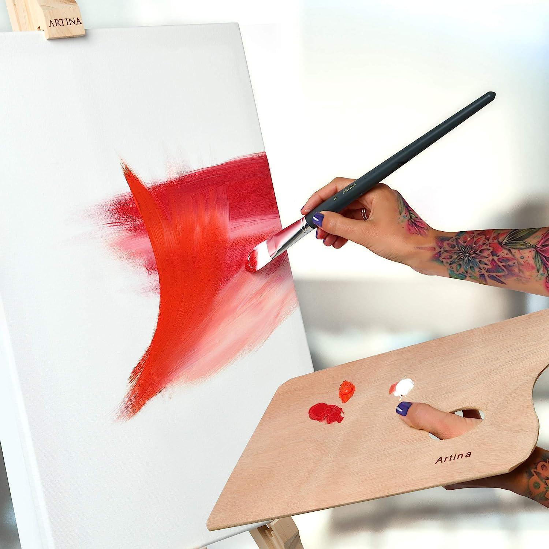 Toile Peinture Blanche 2 Fois Peinte au pr/éalable 280 g//m/² Artina Toile Peinture Akademie Lot de 2 Ch/âssis Bois pour Toile Stable de Haute qualit/é 60x60cm 100/% de Coton