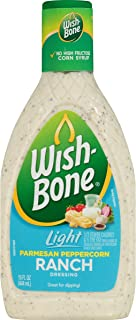 Wish-Bone Salad Dressing, Light Parmesan Peppercorn Ranch, 15 Ounce