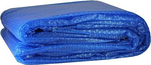 17.4 x 8 ft Blue Rectangular Steel Frame Swimming Pool Floating Solar Cover