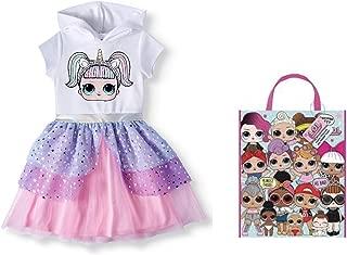 LOL Surprises Halloween Dress Tutu Costume, Trick Or Treat Bag Size 7/8 White