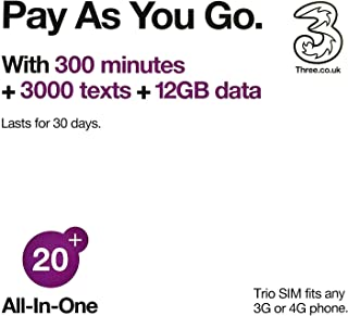 UK Prepaid sim Card 30 GB, 3000 Minutes, 3000 Texts for 30 Days, Feel at Home in 71 Countries Without Data Roaming Charge, Including Most European Countries