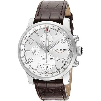 [モンブラン] 腕時計 TIME WALKER UTC シルバー文字盤 自動巻き 107065 メンズ 並行輸入品 ブラウン