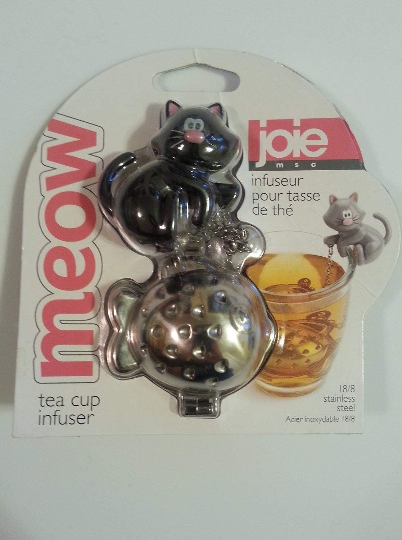 Joie Meow Cat Kitten Tea Cup Infuser Black