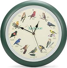 ساعة حائط مطبوع عليها صورة طائر أودوبون المغني من مارك في شتاين وشركاه، 33 سم