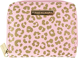 Mary Square Blush Leopard Hide and Seek Accordion Wallet