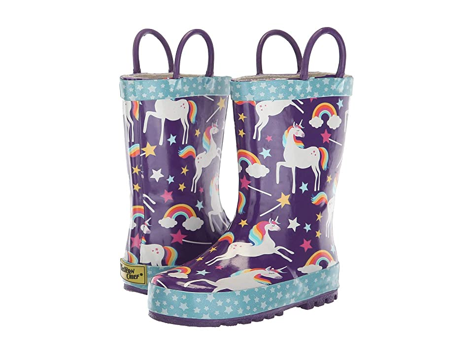 Western Chief Kids Limited Edition Printed Rain Boots (Toddler/Little Kid) (Unicorn Dreams) Girls Shoes