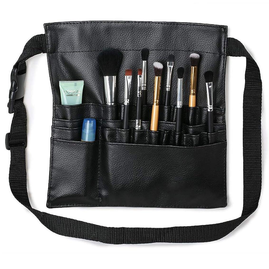 メイクブラシケース 腰巻き 22ポケット メイクウエストバッグ プロのメイクアップアーティスト用化粧バッグ