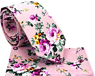 Oliver George Floral Necktie Handkerchief Set, Men's 2.5
