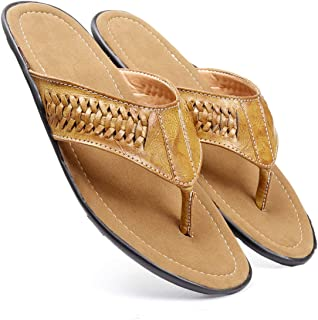 Bacca Bucci® Men's Flip Flop Sandal Classic Comfort Footbed with Suede Leather