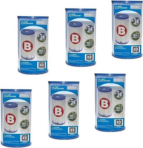 Intex 59905 Boîte de 6 Cartouches de Filtration pour Piscine Type B