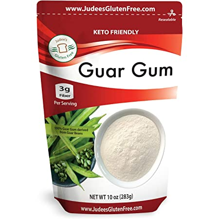 Judee's Guar Gum Powder Gluten Free 10 oz (24 Oz Also) - USA Packaged & Filled - Great for Low-Carb, Keto, & Ice Cream Recipes - Dedicated Gluten & Nut Free Facility