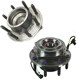 Bodeman - Pair 2 Front Wheel Hub & Bearing Assembly for 2011 2012 2013 2014 2015 2016 Ford F-250 F-350 Super Duty 4WD SRW Models